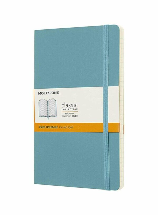 Blue Notebook LG Ruled Soft Re