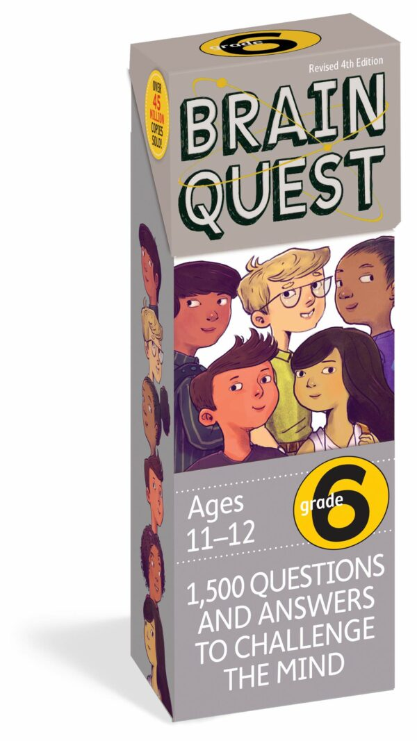 Brain Quest Grade 6: 1,500 Questions and Answers to Challenge the Mind (Revised 4th Edition)