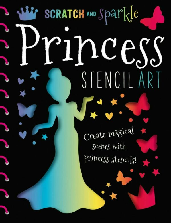 Scratch and Sparkle Princess Stencil Art