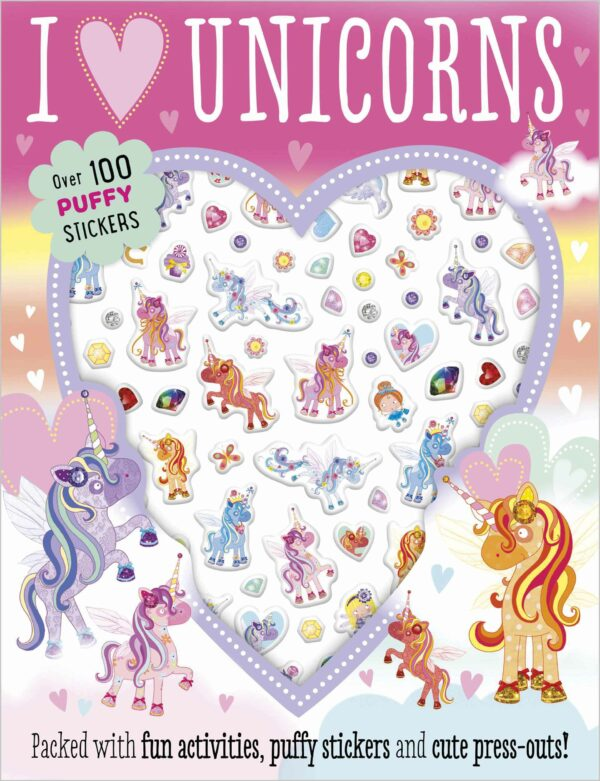 I Love Unicorns Puffy Sticker Activity (Puffy Stickers)