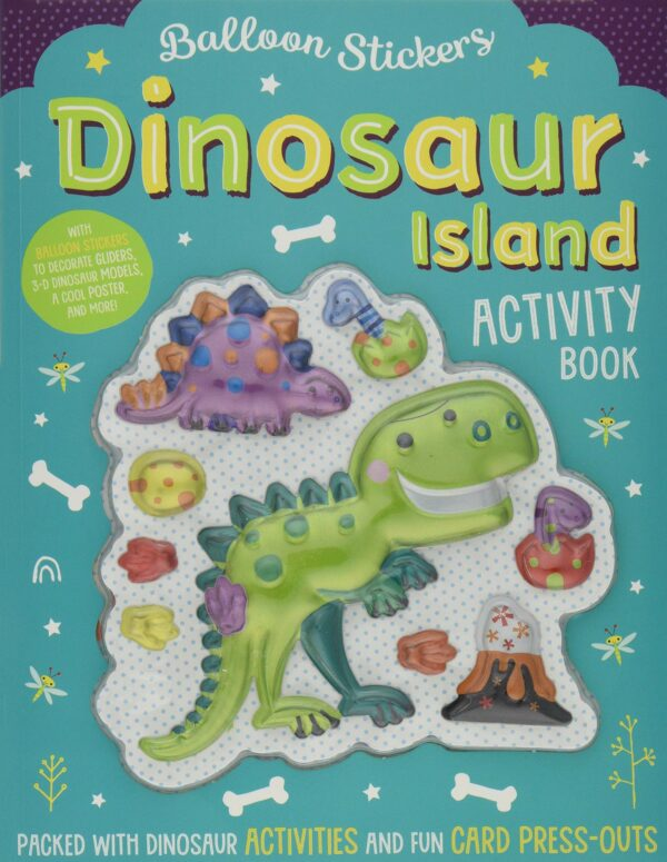 Balloon Sticker Activity Books - Dinosaur Island