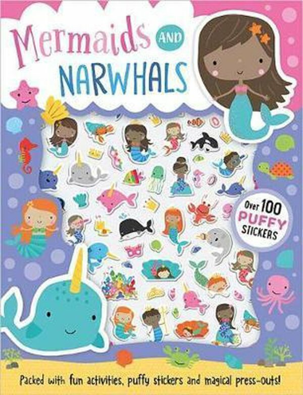 Mermaids and Narwhals (Puffy Sticker Book)