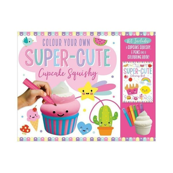 Cupcake Squishy Colour Your Own Super-Cute