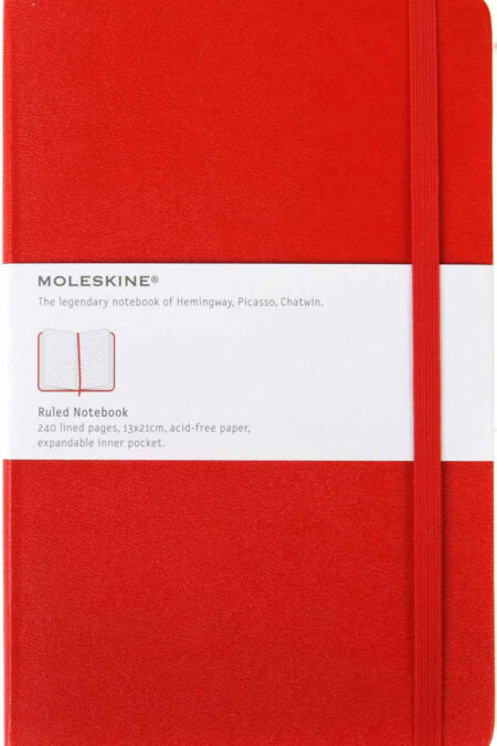 Large Ruled Notebook Red
