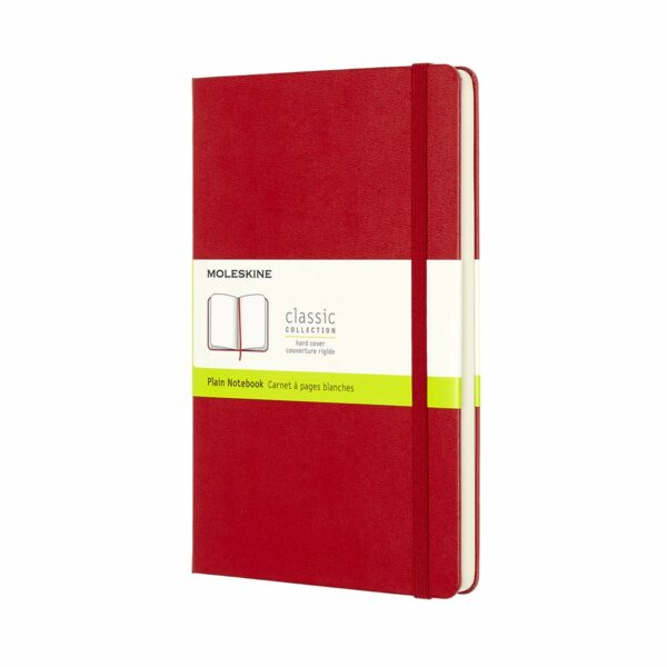Large Plain Notebook Red