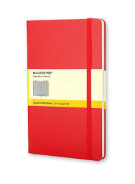 Large Squared Notebook Red