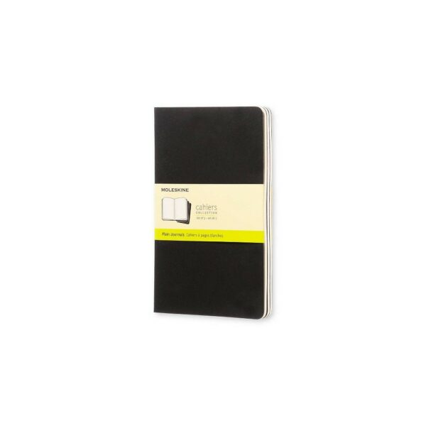 Large Plain Cahier Black set o