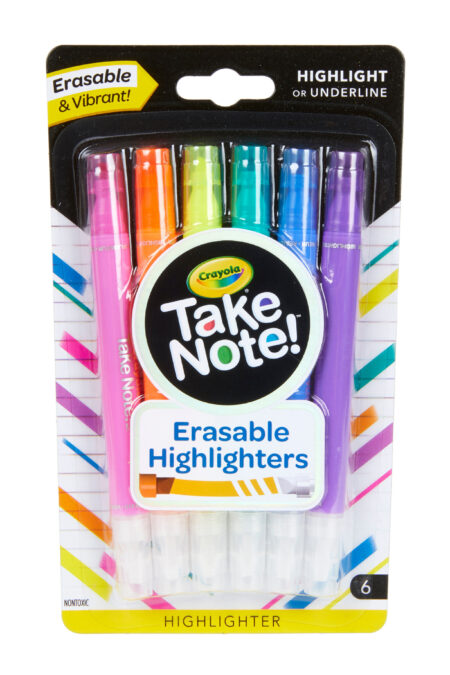 Crayola Take Note 6ct Erasable Highl (58-6504-E-000)