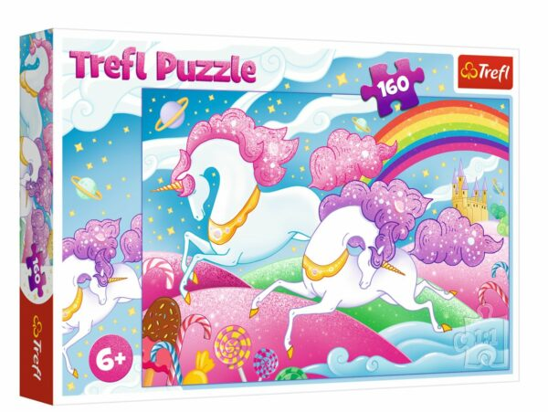 Galloping unicorns Trefl Puzzle 160 (410x278) 160 Pieces 15372