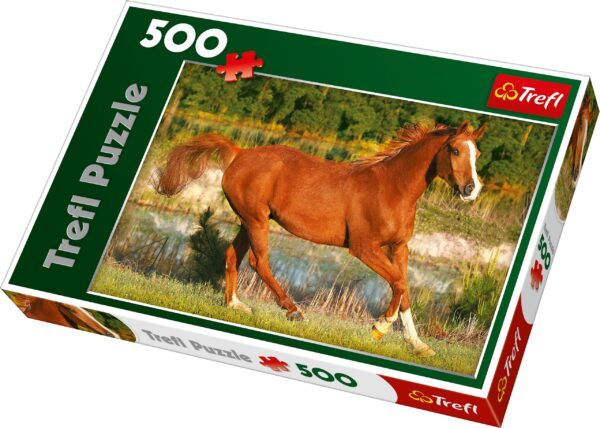 Beauty Of Gallop Trefl Puzzle 500 (480x340) 500 Pieces 37184