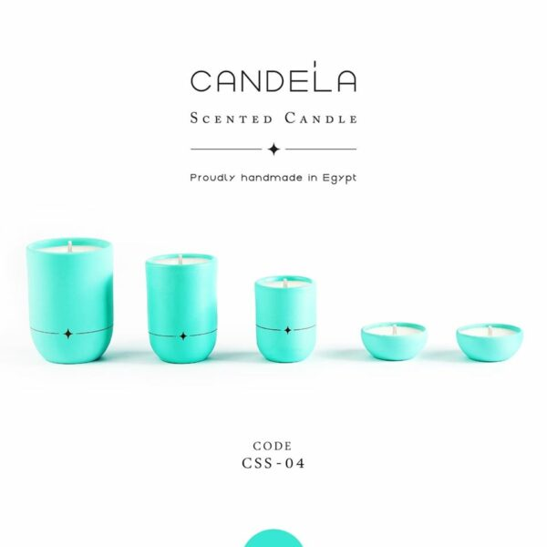 Regalo Teal Candle