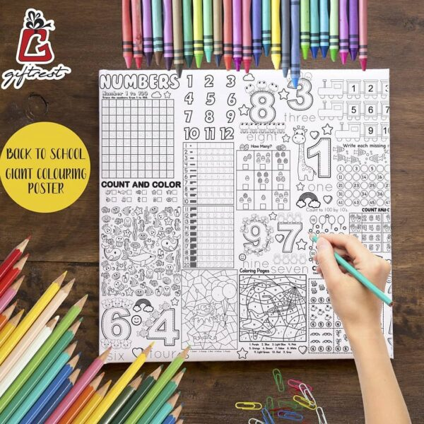 Alphabets Numbers Coloring Poster GCP-006 ( 200x90)