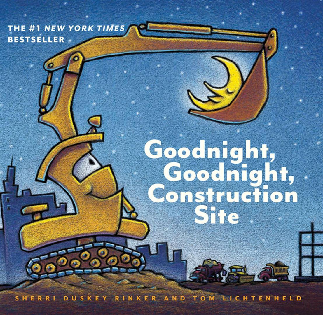 Goodnight Goodnight Construction Site (Board Book for Toddlers, Children's Board Book)