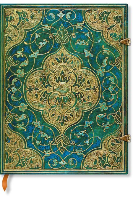 Ultra Turquoise Chronicles lined Notebook