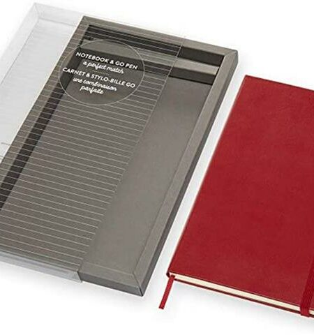 Scarlet Red Large Ruled Notebo