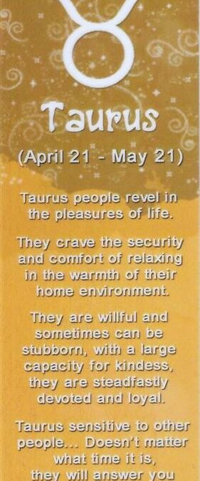 I&Y Taurus Bookmark 21 Apr