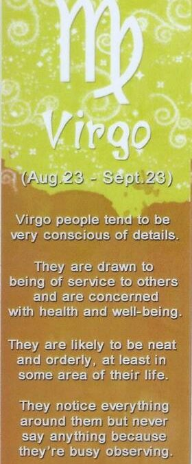 I&Y Virgo Bookmark 23 Aug