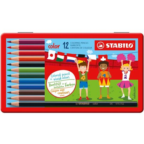 Stabilo 12 Wooden Color