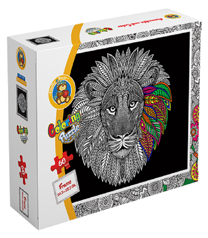 Coloring Puzzle Lion60 Pieces(CLR-7002)